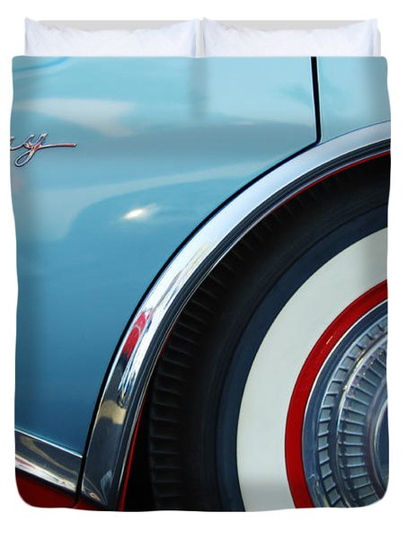 1956 Buick Century Wheel Duvet Cover by Jill Reger