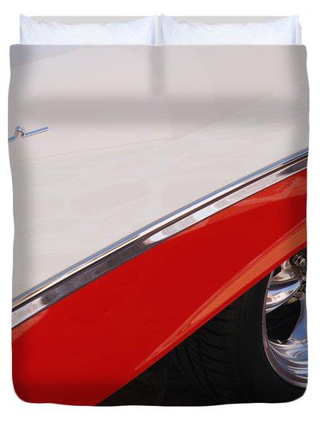 1956 Chevrolet Belair Convertible Wheel Duvet Cover by Jill Reger