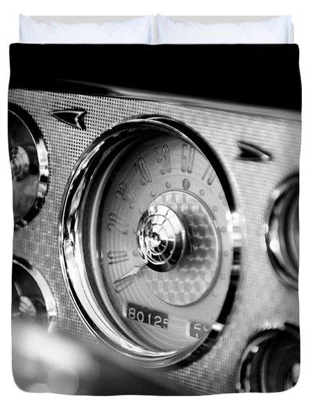 1956 Packard Caribbean Dashboard Duvet Cover by Sebastian Musial