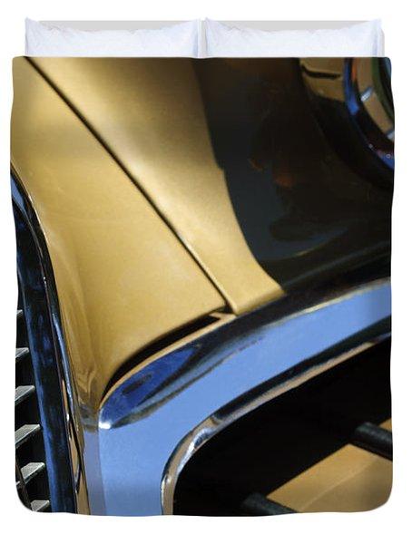 1957 Studebaker Golden Hawk Hardtop Grille Emblem Duvet Cover by Jill Reger