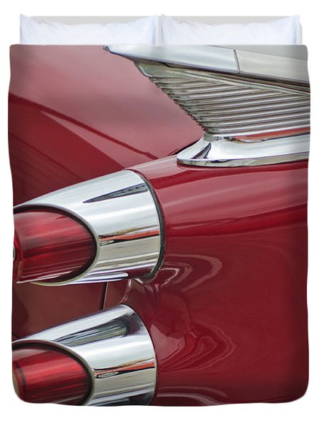 1959 Dodge Custom Royal Super D 500 Taillight Duvet Cover by Jill Reger
