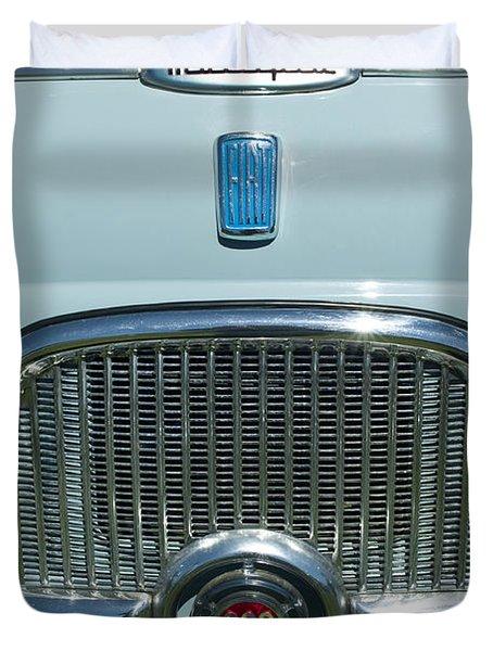1959 Fiat Multipia Hood Emblem Duvet Cover by Jill Reger