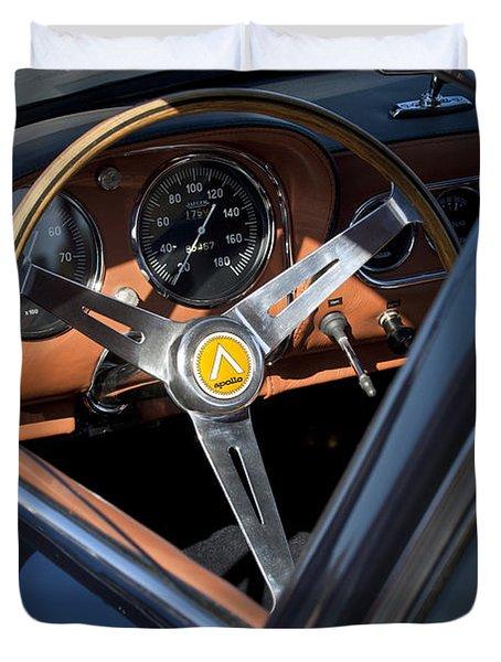 1963 Apollo Steering Wheel     Duvet Cover by Jill Reger