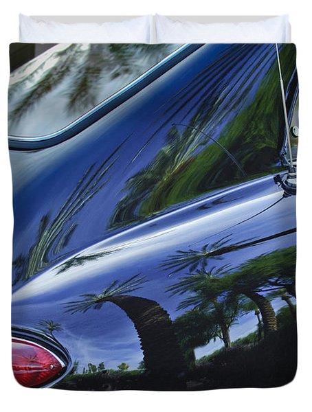 1963 Apollo Taillight Duvet Cover by Jill Reger