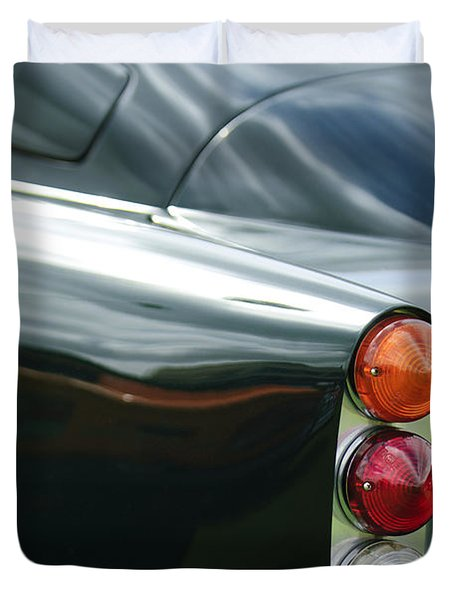 1963 Aston Martin DB4 Series V Vantage GT Tail Light Duvet Cover by Jill Reger