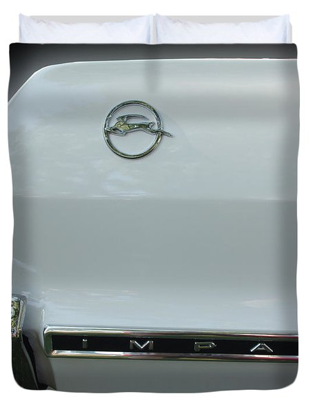 1963 Chevy Impala Duvet Cover by Peter Piatt