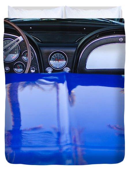 1965 Chevrolet Corvette Sting Ray Duvet Cover by Jill Reger