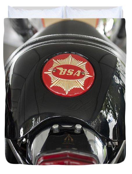 1966 Bsa 650 A-65 Spitfire Lightning Clubman Motorcycle Duvet Cover by Jill Reger