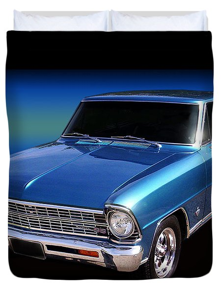 1967 Nova Ss Duvet Cover by Peter Piatt