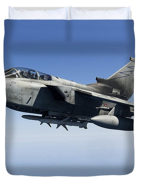 An Italian Air Force Tornado Ids Duvet Cover by Gert Kromhout