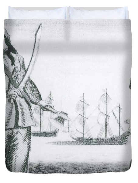 Anne Bonny And Mary Read, 18th Century Duvet Cover by Photo Researchers