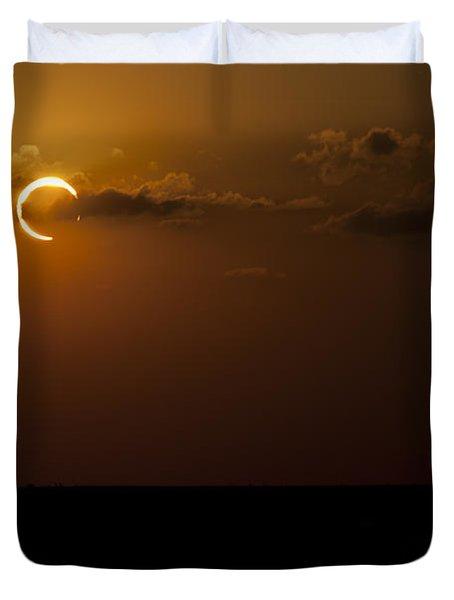 Annular Solar Eclipse Duvet Cover by Phillip Jones