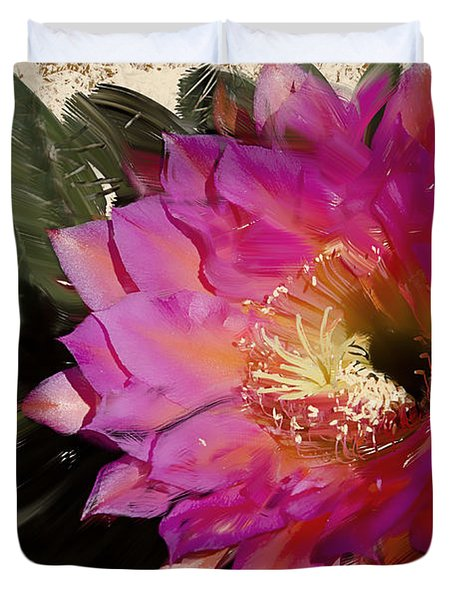 Cactus Flower  Duvet Cover by Jim and Emily Bush