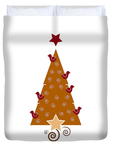 Christmas Tree Duvet Cover by Frank Tschakert