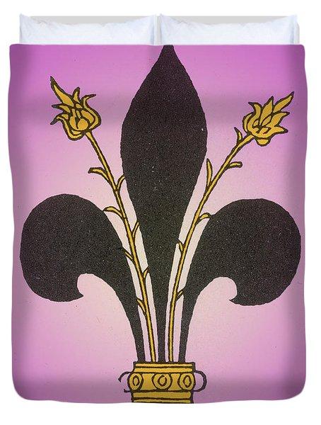 Fleur-de-lis Duvet Cover by Science Source