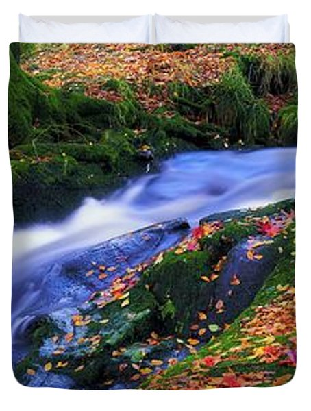 Glenmacnass Waterfall, Co Wicklow Duvet Cover by The Irish Image Collection