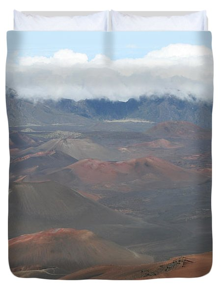 Haleakala Volcano Maui Hawaii Duvet Cover by Sharon Mau
