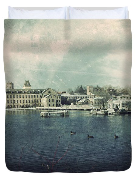 Historic Fox River Mills Duvet Cover by Joel Witmeyer