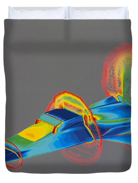 Hyperx Hypersonic Aircraft Duvet Cover by Science Source