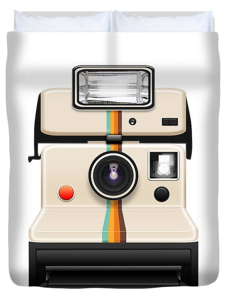 instant camera with a blank photo Duvet Cover by Setsiri Silapasuwanchai