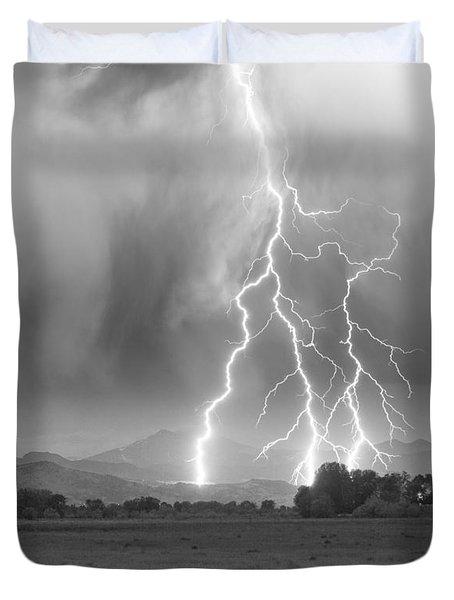 Lightning Striking Longs Peak Foothills 6 Duvet Cover by James BO  Insogna