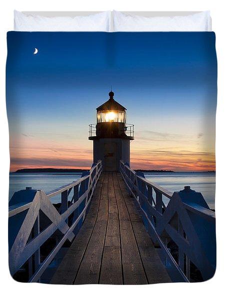 Marshall Point Light Duvet Cover by Brian Jannsen