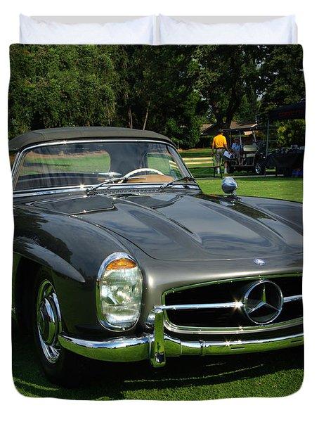 Mercedes 300 Sl Duvet Cover by Peter Piatt
