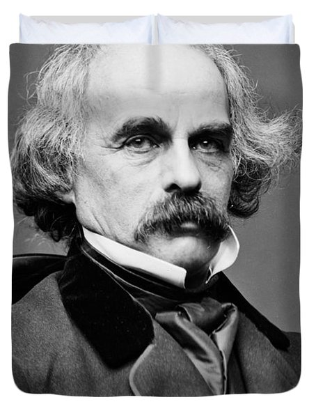 Nathaniel Hawthorne, American Author Duvet Cover by Photo Researchers