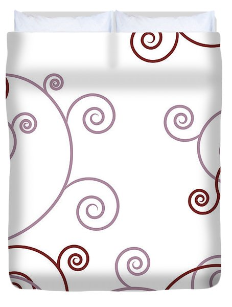 Pink And Red Abstract Duvet Cover by Frank Tschakert