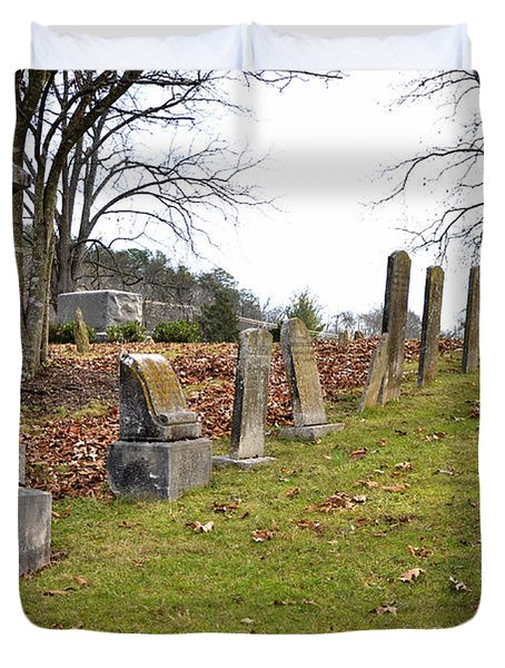 Pleasant Forest Cemetery Duvet Cover by Paul Mashburn