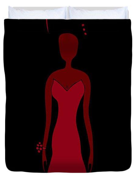 Red Dress Duvet Cover by Frank Tschakert
