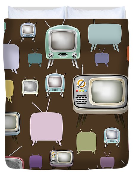 retro TV pattern  Duvet Cover by Setsiri Silapasuwanchai