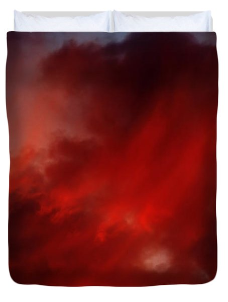 rosy sky Duvet Cover by Michal Boubin