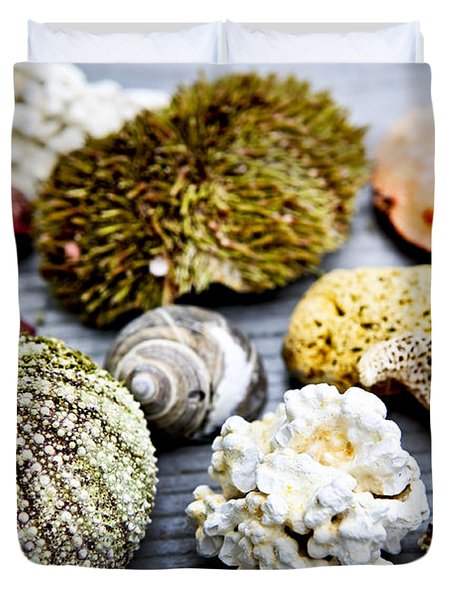 Sea Treasures Duvet Cover by Elena Elisseeva