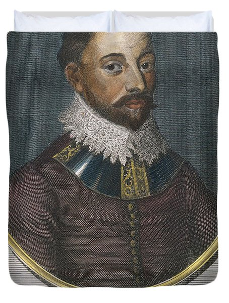 Sir Francis Drake, English Explorer Duvet Cover by Photo Researchers