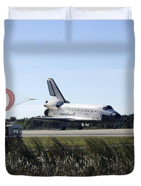 Space Shuttle Atlantis Unfurls Its Drag Duvet Cover by Stocktrek Images