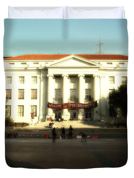 Uc Berkeley . Sproul Hall . Sproul Plaza . Occupy Uc Berkeley . 7d9994 Duvet Cover by Wingsdomain Art and Photography