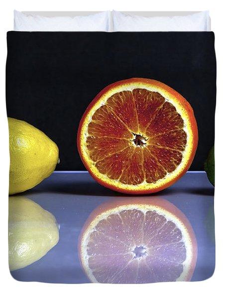 Citrus Fruits Duvet Cover by Joana Kruse