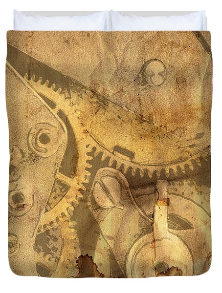 Clockwork Mechanism Duvet Cover by Michal Boubin