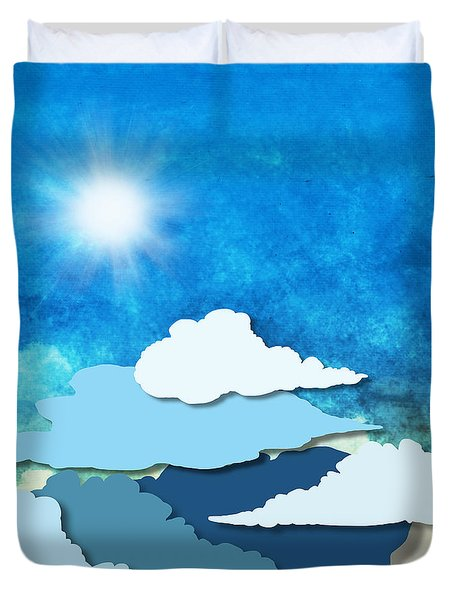 Cloud And Sky Duvet Cover by Setsiri Silapasuwanchai