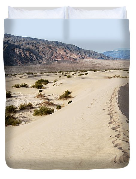 Death Valley National Park Mesquite Flat Sand Dunes Duvet Cover by Eva Kaufman