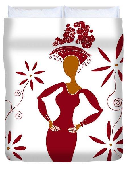 Fashion Illustration Duvet Cover by Frank Tschakert