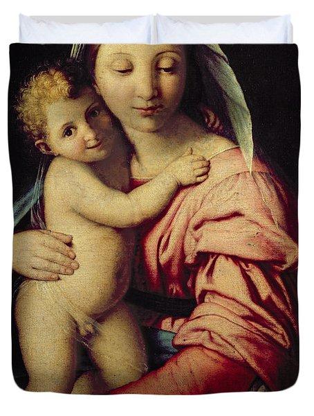 Madonna And Child Duvet Cover by Il Sassoferrato