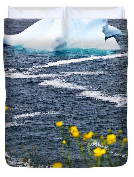 Melting Iceberg Duvet Cover by Elena Elisseeva