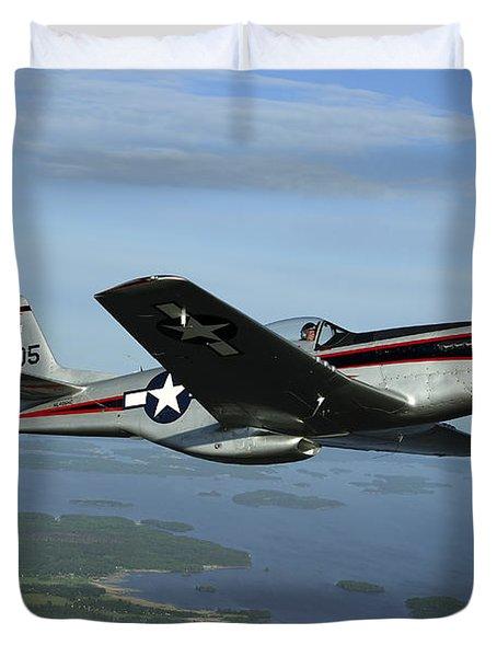 North American P-51 Cavalier Mustang Duvet Cover by Daniel Karlsson