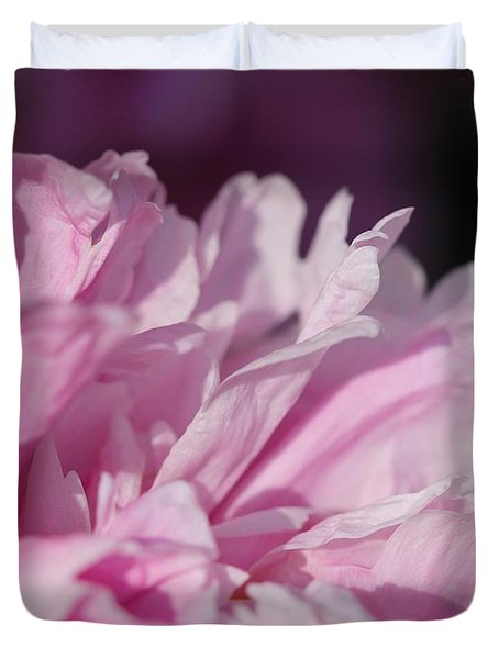 Peony Named Shirley Temple Duvet Cover by J McCombie