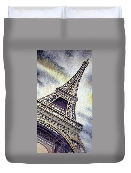 The Eiffel Tower  Duvet Cover by Irina Sztukowski