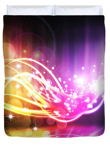 abstract lighting effect  Duvet Cover by Setsiri Silapasuwanchai