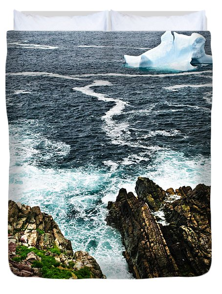 Melting iceberg Duvet Cover by Elena Elisseeva