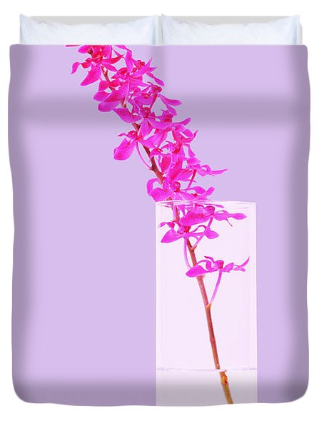 red orchid bunch Duvet Cover by ATIKETTA SANGASAENG